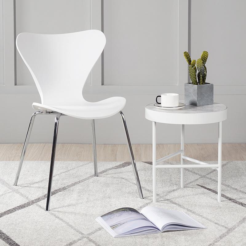 Ghế nhựa đúc chân inox giá rẻ