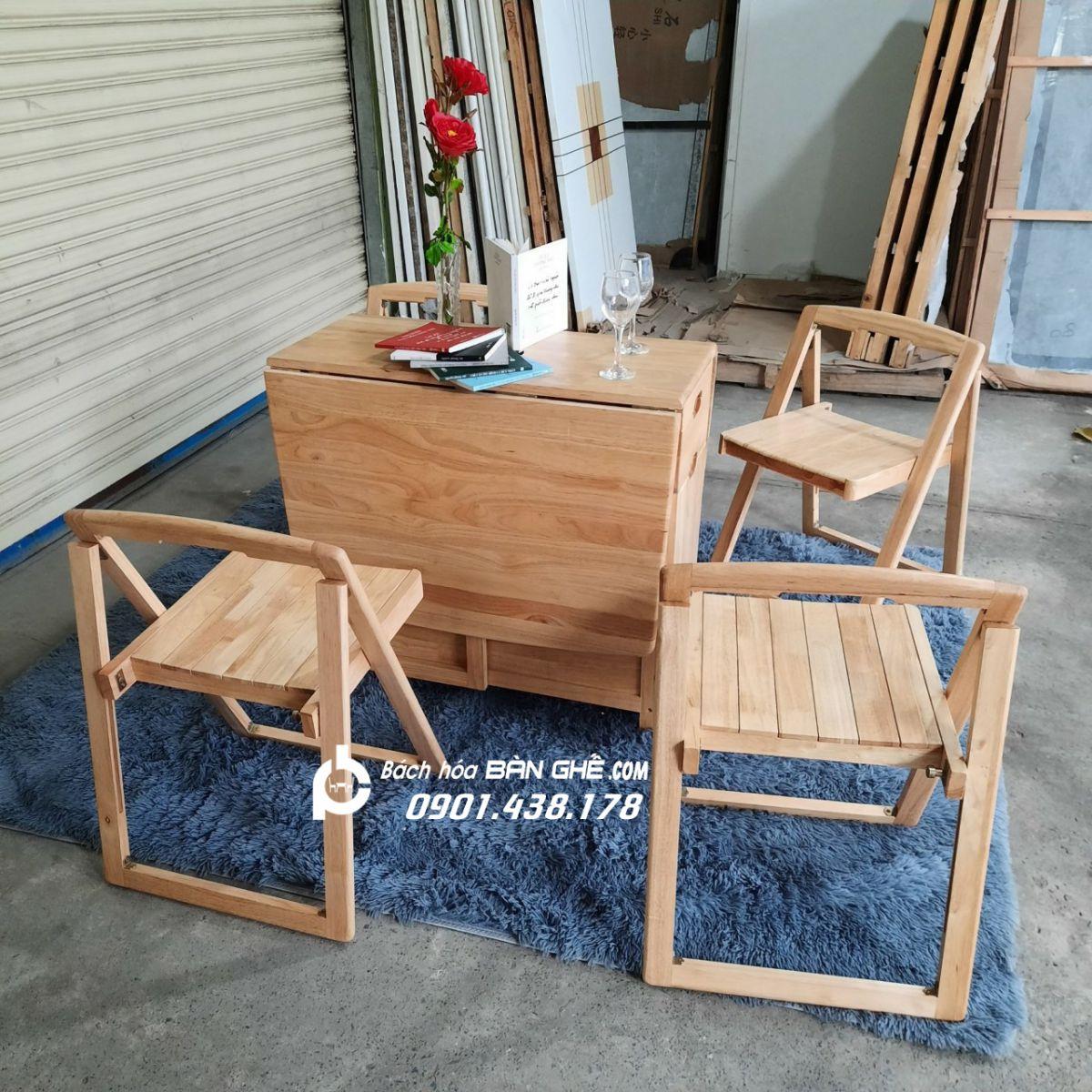 Bộ bàn ăn xếp gọn cho căn hộ MAV01