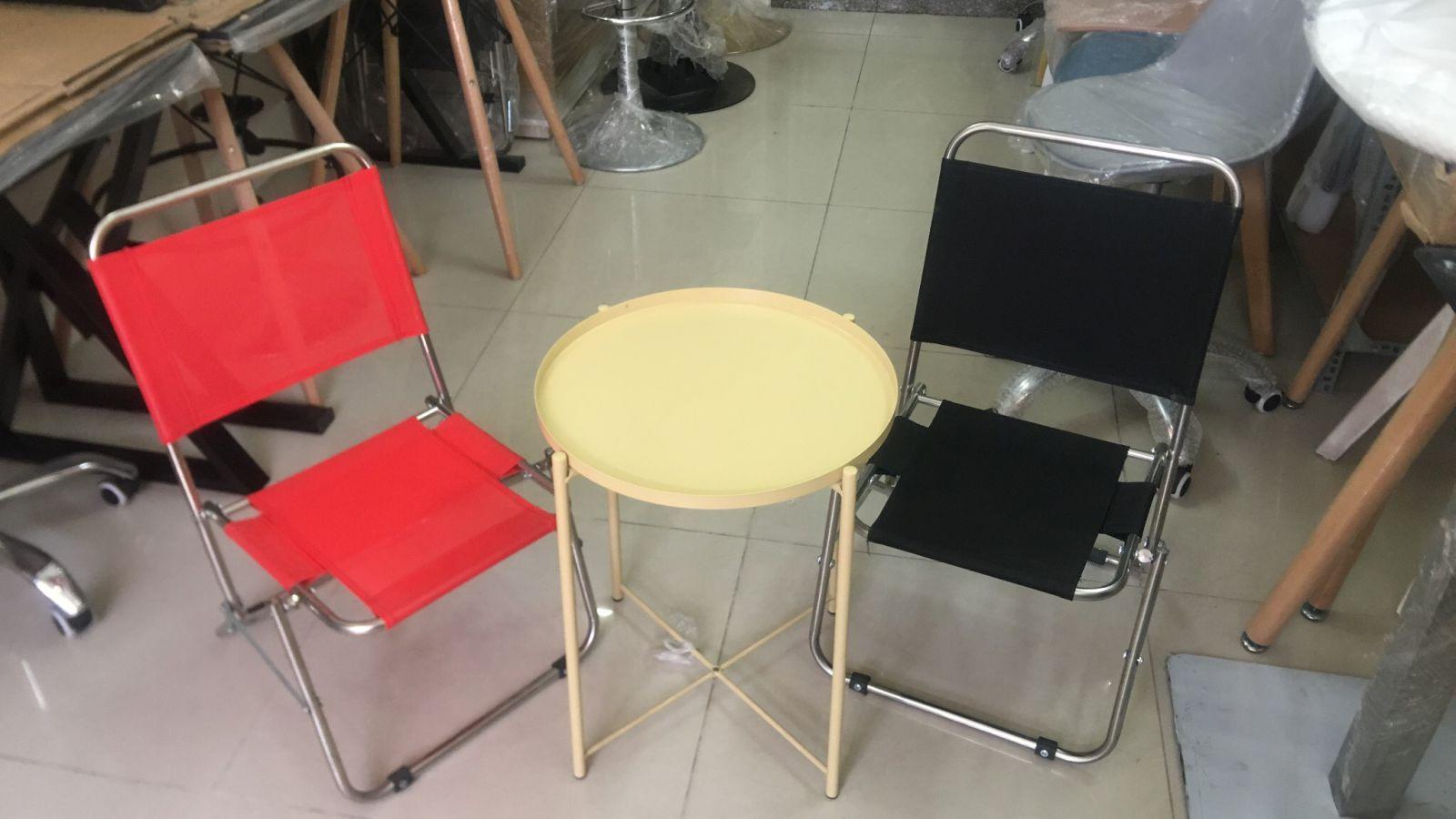 Bộ bàn sắt ghế xếp quán cafe