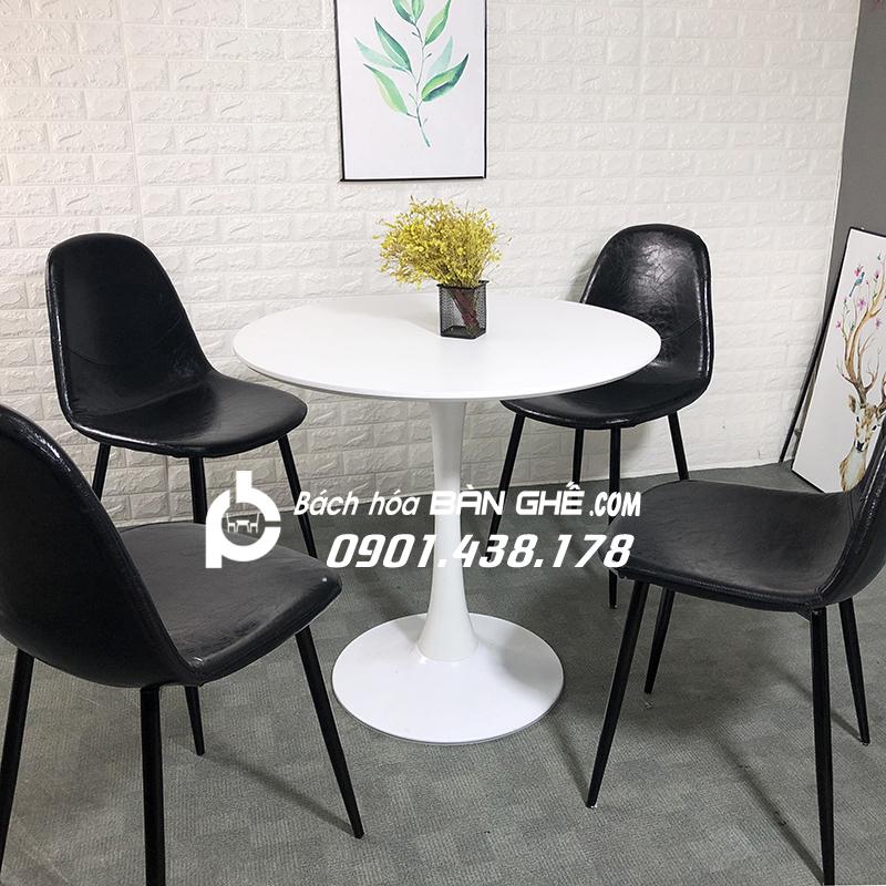 Bộ bàn Tulip ghế da GLM10