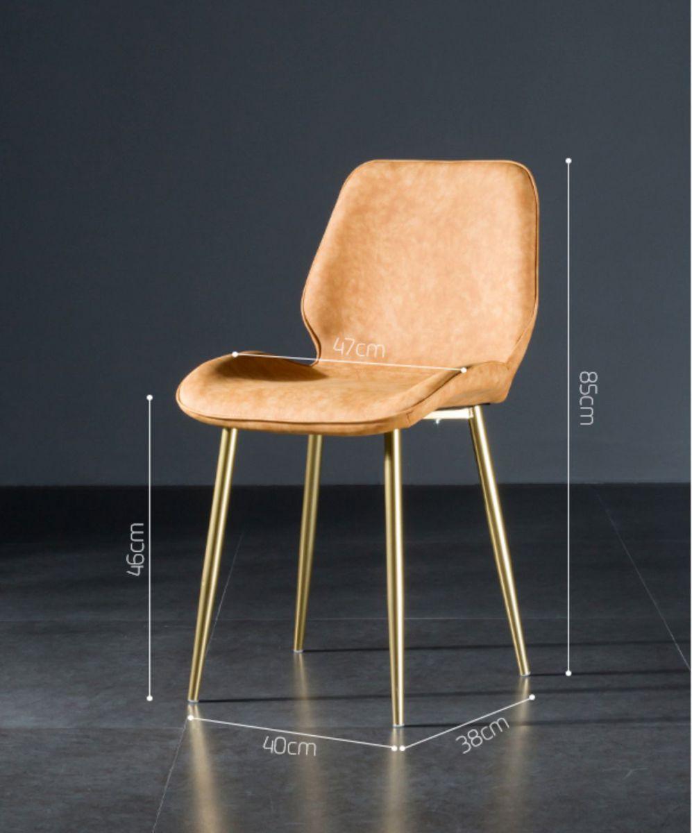 Ghế nhung chân mạ vàng GLM104
