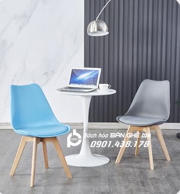 Bộ bàn tulip 2 ghế nhựa có nệm GLM05