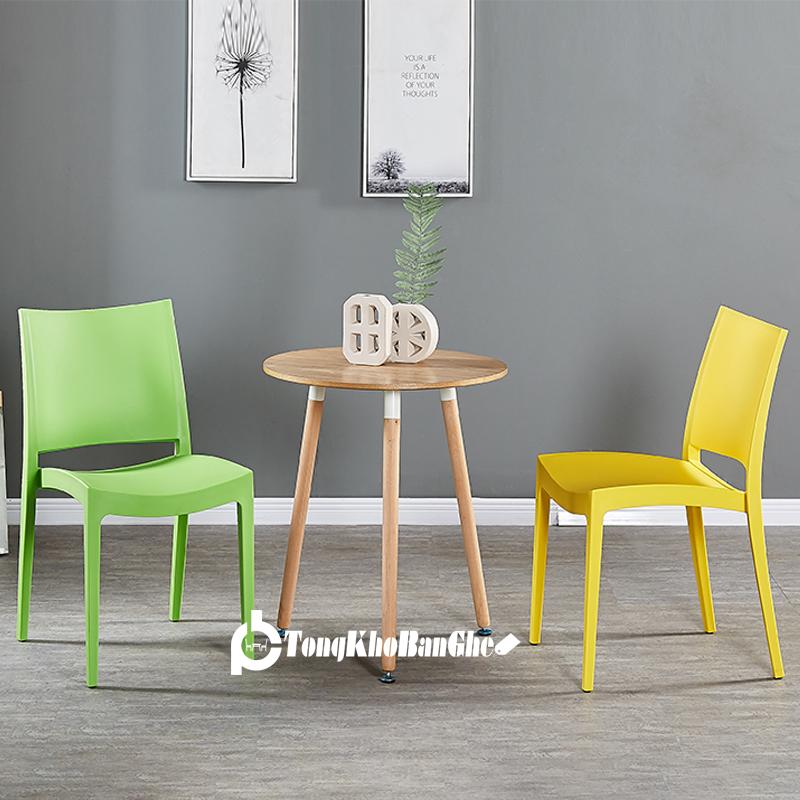 Bộ bàn ghế cafe Ghế nhựa đúc