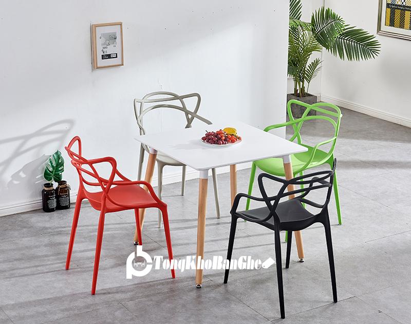 Bộ bàn ghế nhựa tiếp khách đẹp