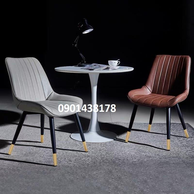 Bộ bàn Tulip 2 ghế da tiếp khách sang trọng cho cửa hàng, showroom, văn phòng công ty
