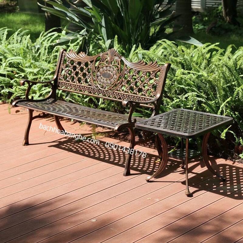 Ghế băng sân vườn ngoài trời nhôm đúc GBS3