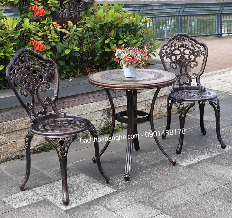 Ghế cafe sân vườn ngoài trời nhôm đúc GSV11