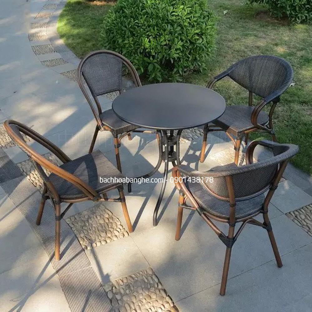 Ghế lưới cafe sân vườn ngoài trời khung nhôm đúc GSV15