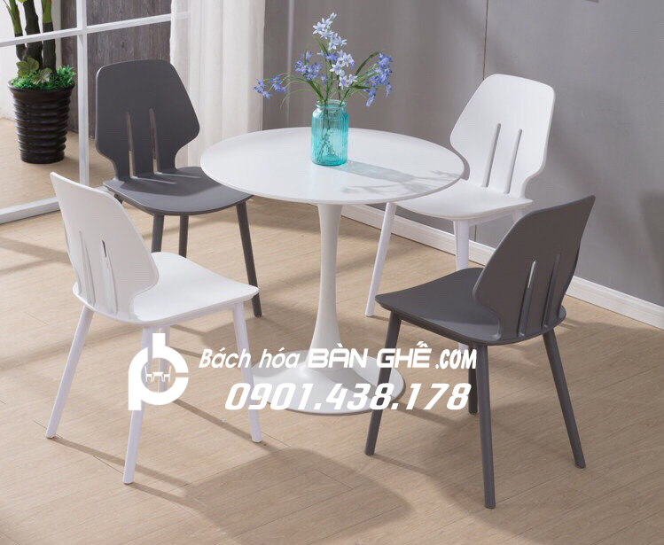 Bộ bàn Tulip ghế nhựa đúc GLM13B